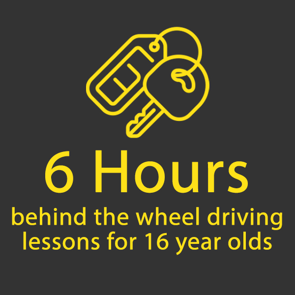 6 Hours Behind the Wheel for 16 Year Olds