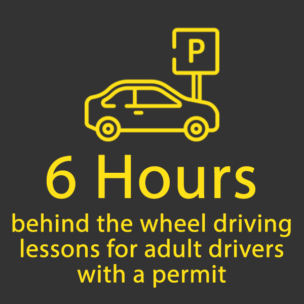 6 hours behind the wheel for adults